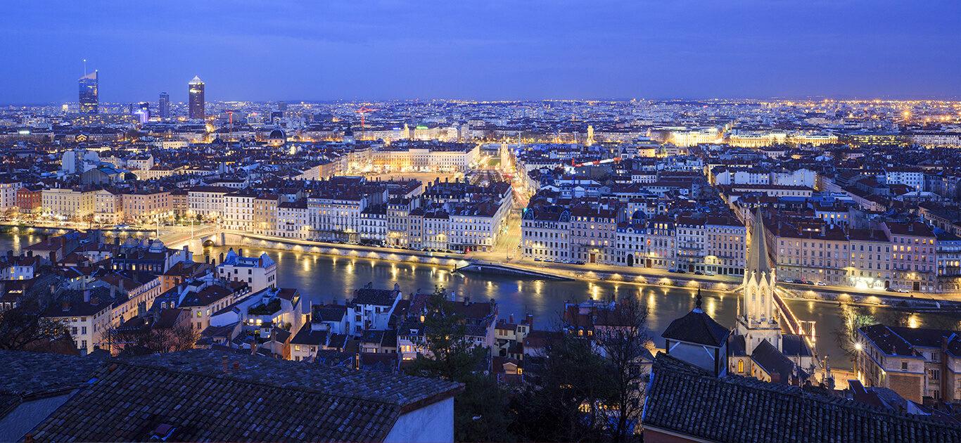 La vue depuis Villa Maïa Hôtel 5 étoiles de luxe à Lyon