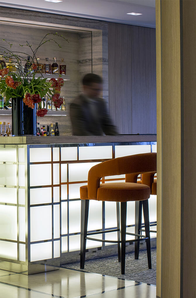 Le bar de l'hôtel Villa Maïa 5 étoiles à Lyon